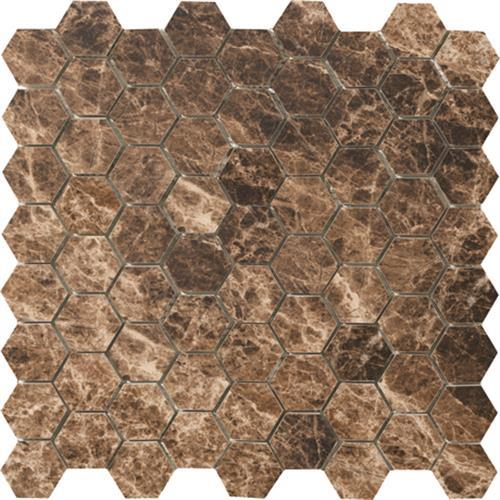 Timeless Collection Emperador Mocha Mosaic 175X15 Hexagon