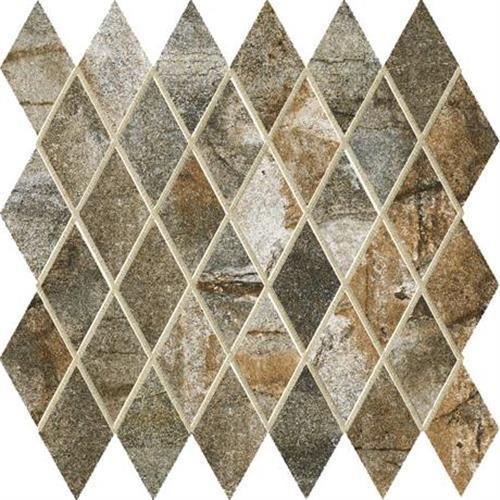 Vesale Stone Moss Mosaic 2X3-1/2 Diamond - 13X13