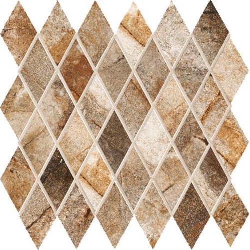 Vesale Stone Rust Mosaic 2X3-1/2 Diamond - 13X13