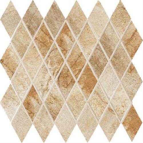 Vesale Stone Sand Mosaic 2X3-1/2 Diamond - 13X13