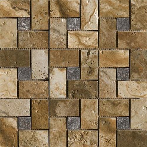 Archaeology Chaco Canyon - 13X13 Mosaic - Square