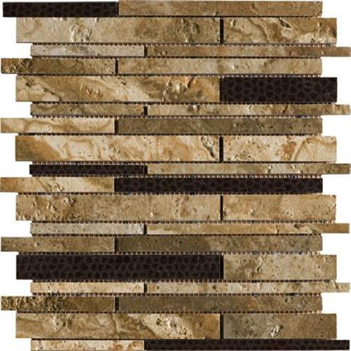 Archaeology in Chaco Canyon   13x13 Pinwheel Mosaic - Tile by Marazzi