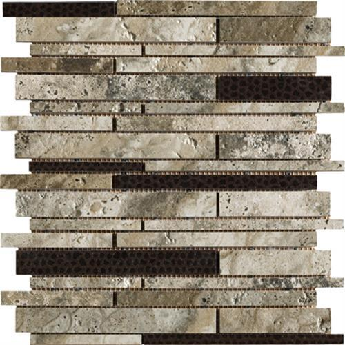 Archaeology in Crystal River Mosaic   Random Strip - Tile by Marazzi