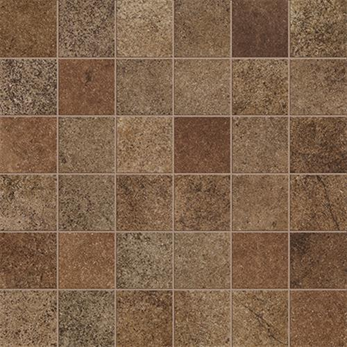 A close-up (swatch) photo of the Noce Mosaic (2x2 Square) flooring product