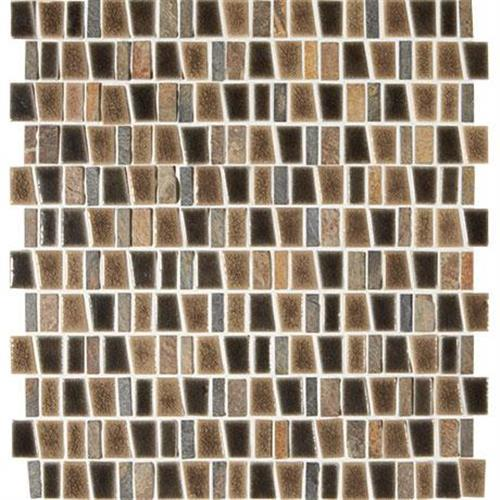 Midpark Mosaics Bark Mosaic Trapezoid 1Xrandom - 12X12