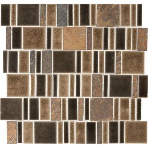 Midpark Mosaics Bark Mosaic Square 2Xrandom - 13X13