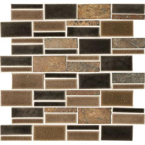 Midpark Mosaics Bark Mosaic Rectangle 3Xrandom - 13X12