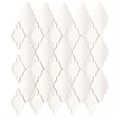 Swatch for White Mosaic (moroccan)   14x12 flooring product