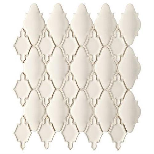 Swatch for Off White Mosaic (moroccan)   14x12 flooring product