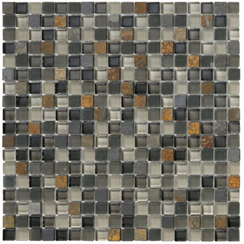 Crystal Stone Ll Slate 5/8 X 5/8