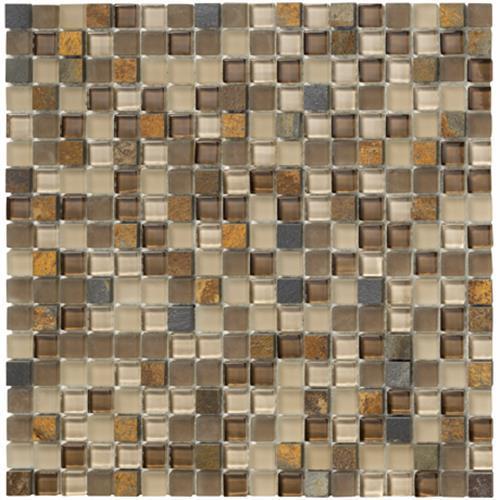 GlassTile Crystal Stone ll Terracotta (5/8 X 5/8)  main image