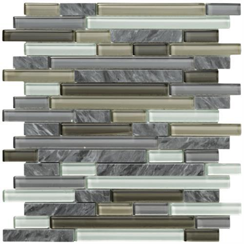 Crystal Stone Ll Pewter Random Strip