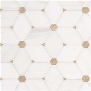 NaturalStone BiancoDolomite BIADO-CecilyPattern BiancoDolomite-CecilyPattern