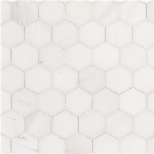 Bianco Dolomite Bianco Dolomite - Hexagon