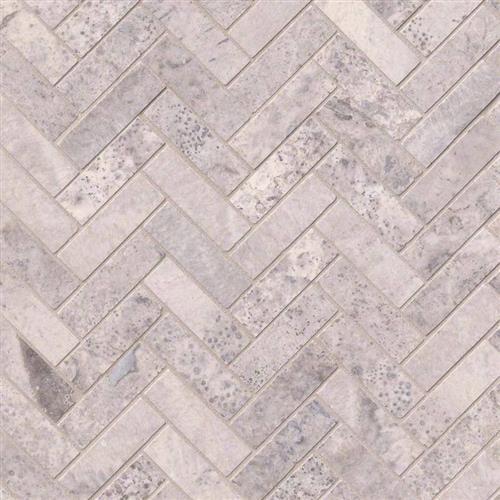 Silver Travertine Silver Travertine - Herringbone
