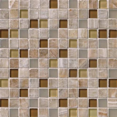 Giallo Crystal Onyx Giallo Crystal Onyx - Mosaic