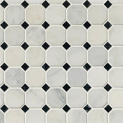 Arabescato Carrara Arabescato Carrara - Black White Octagon