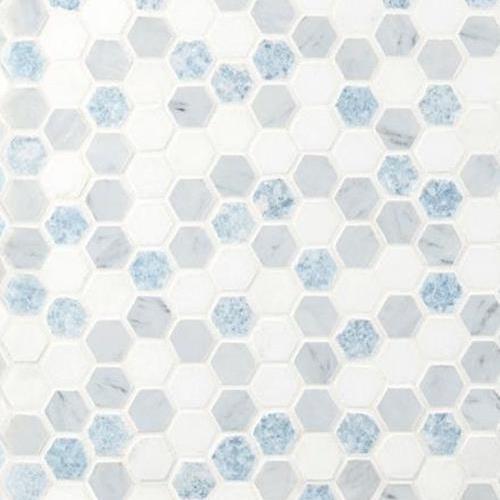 Stone Mosaic Azula Hexagon Polished