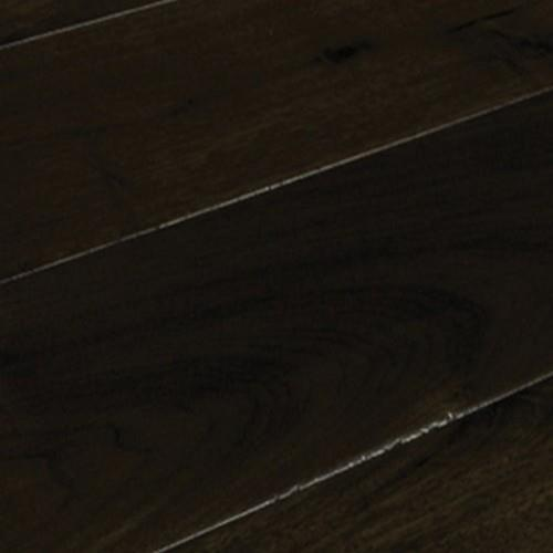 A close-up (swatch) photo of the Dark Chocolate Birch flooring product