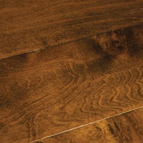 A close-up (swatch) photo of the Tobacco Birch flooring product