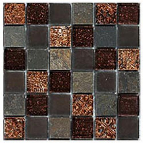 Glazzio Tiles Opulence 1x1 Series Sierra Stone Glass Tile
