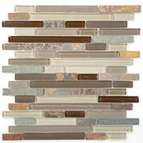 Glass  Slate Series Random Brick Rustic Taupe