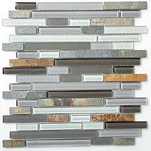 Glass  Slate Series Random Brick Sag Harbor Gray