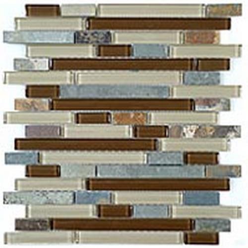Glass  Slate Series Random Brick Winter Scape