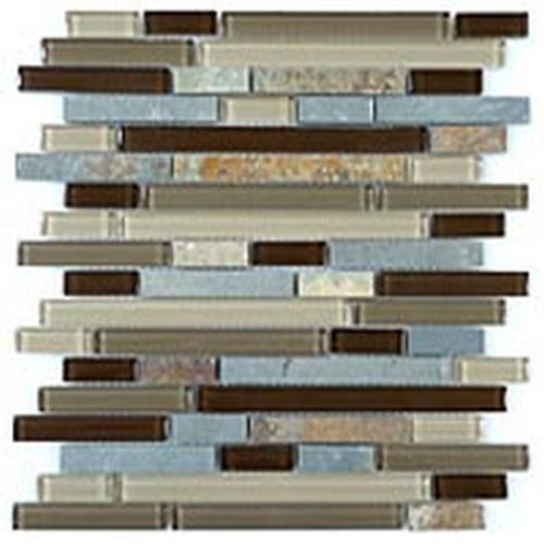 Glass  Slate Series Random Brick Titanium Filed