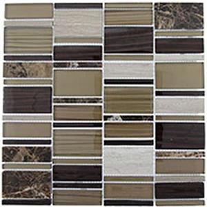GlassTile CorrugatedSeries CSS120 OlivineShell