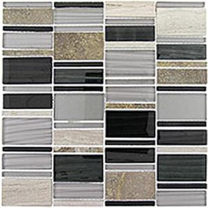 GlassTile CorrugatedSeries CSS126 EbonyCliff