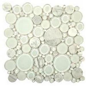 GlassTile BubbleSeries BFS-101 WhiteDove