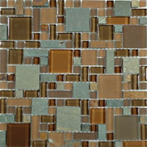 Glass  Slate Block Random Hillcrest Tan