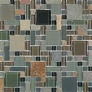 GlassTile GlassSlateBlockRandom GS27 ForestFloor