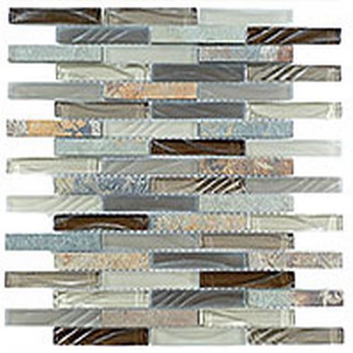 Glass  Slate Brick Rustic Taupe