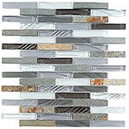 Glass  Slate Brick Sag Harbor Gray
