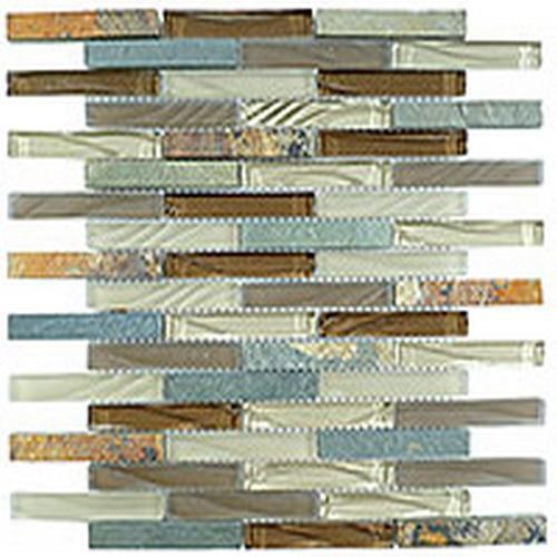 Glass  Slate Brick Winter Scape