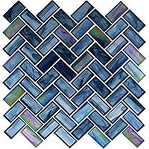 Oceania Series- Herringbone Pattern Cobalt Sea