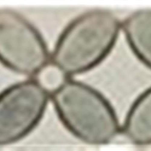 Ming Green (Oval)-Thassos White(Dots)-Thassos White(Base)