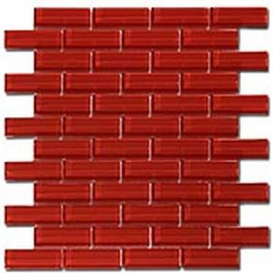GlassTile CrystileSeries1x3 C12-2 RubyRed