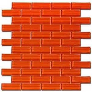 GlassTile CrystileSeries1x3 C13-2 OrangeBurst