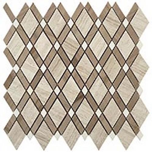 Wooden White(Big Diamond)-Athen Gray(Stripes)-Thassos White(Small Diamond)