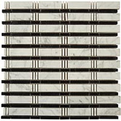 Skyline Series White Carrara - Black Dots