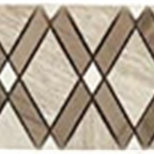 Diamond Series Listello Wooden WhiteBig Diamond-Athen GrayStripes-Thassos WhiteSmall Diamond