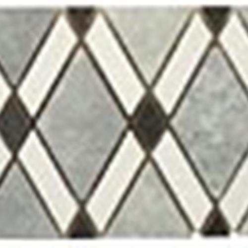 Diamond Series Listello MugworthBig Diamond-Thassos White Stripes-Honey OnyxSmall Diamond