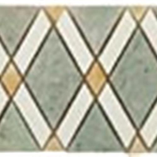 Diamond Series Listello Ming Green LightBig Diamond-Thassos White Stripes-Honey OnyxSmall Diamonds