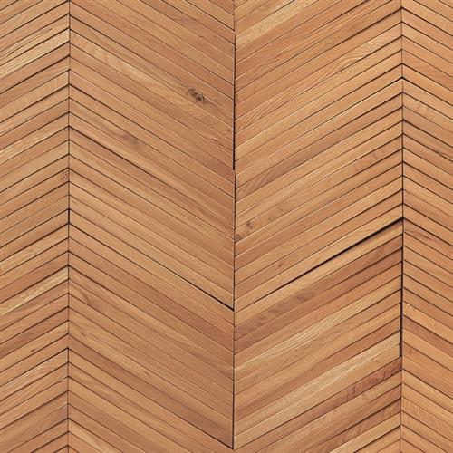 Inceptiv   Ark Chevron in Golden Oak - Hardwood by DuChateau