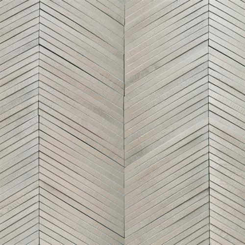 Inceptiv   Ark Chevron in Silver - Hardwood by DuChateau