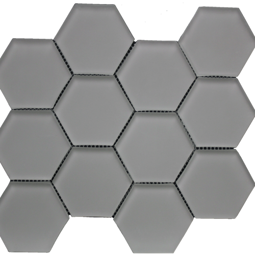 Simpson Desert Glass Hexagon - Doe Skin Matte