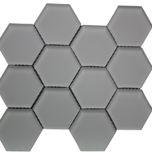 Simpson Desert Glass Hexagon - Urban Mist Matte